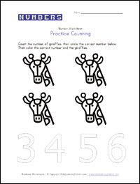 Worksheets, Number worksheets and Preschool on Pinterest