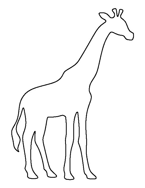 Giraffe pattern. Use the printable outline for crafts