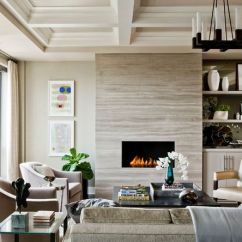 Fireplace For Living Room Dream Rooms Ideas Electric Fireplaces Steal The Show Homedit Puts This Beautifully On A Beige Tile Background Notice How Uniform Colors Are With Ceiling Flooring And Furniture