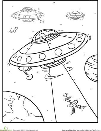 Coloring, Spaceships and Outer space on Pinterest