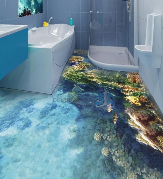 3D floor  3D floor tile  Pinterest  Floors Bathroom and 3d