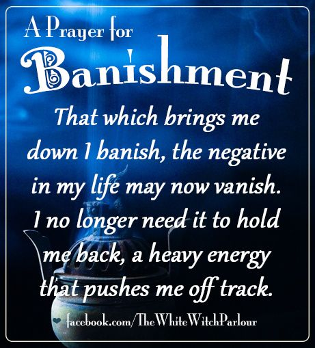A Prayer For Banishment (Printable Spell Pages)