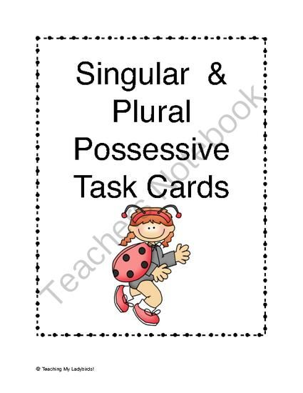 Possessive nouns, Singular and plural and Products on