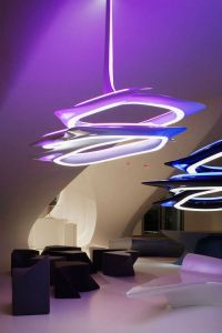 Zaha hadid, Chandelier lamp and Futuristic design on Pinterest