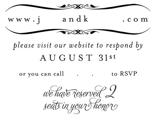 Share your RSVP's!!! Inspiration needed : wedding