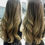 soft honey blond balayage ombre