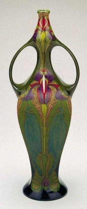 Art Nouveau - beautiful iris vase: