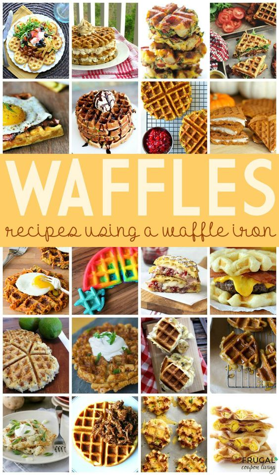 recipes using a waffle iron