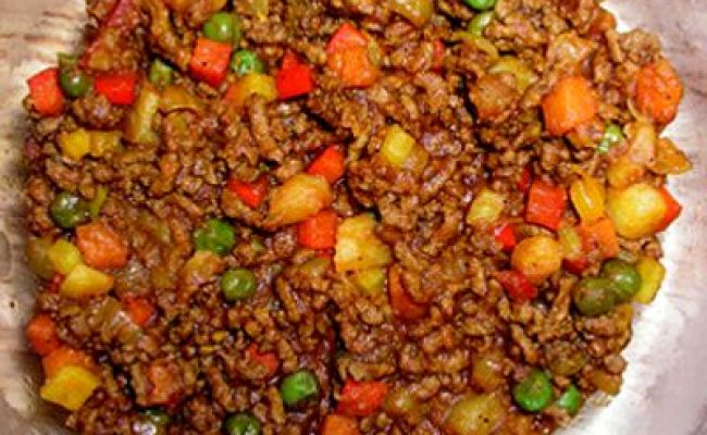 Ground Beef Peppers Onions Potatoes