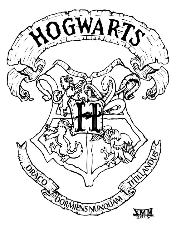 Coloring, Coloring pages and Hogwarts on Pinterest