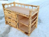 rustic log changing table for the baby | Baby stuff ...