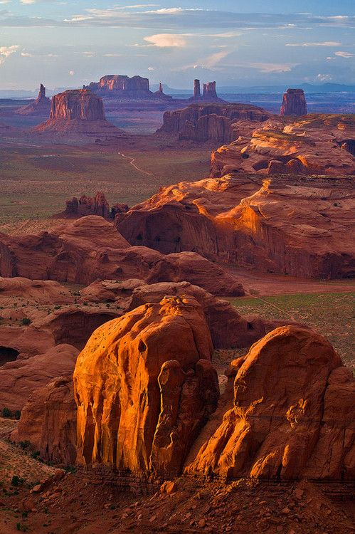 Overlooking Monument Valley From Hunts Mesa Arizona USA