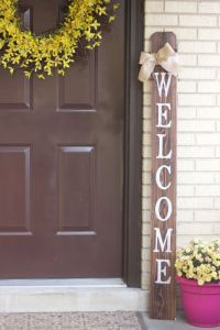 WELCOME Front Porch Wooden Sign, Welcome Sign, Front Porch ...