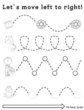 Left To Right Tracing Worksheets {Fine Motor Skills