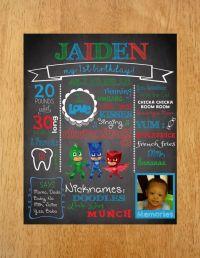 PJ Masks Chalkboard Poster DIGITAL FILE by MunchDoodles on ...