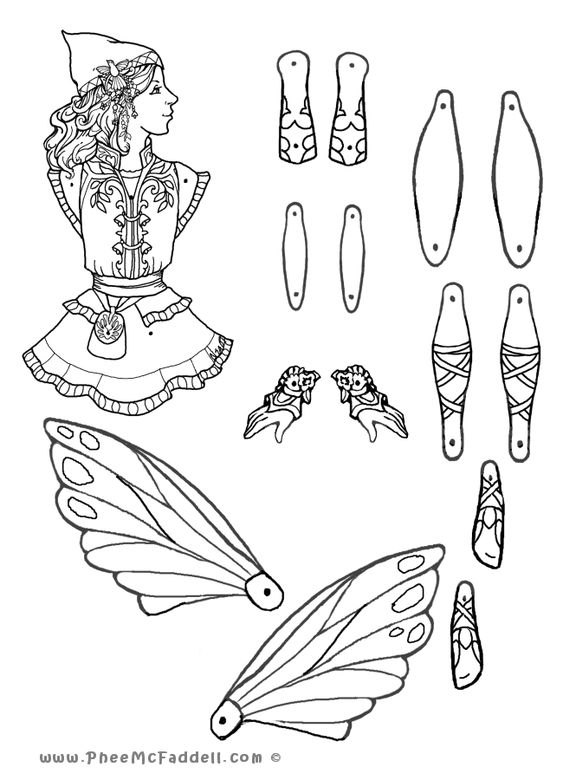 Puppets, Fairies and Coloring pages on Pinterest