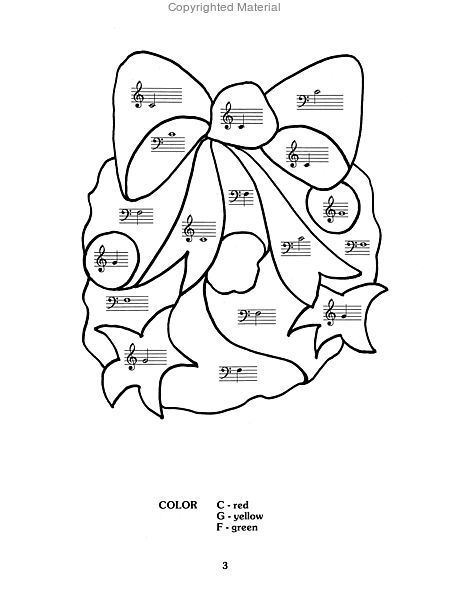 Color by Note Christmas Sheet Music by Sharon Kaplan