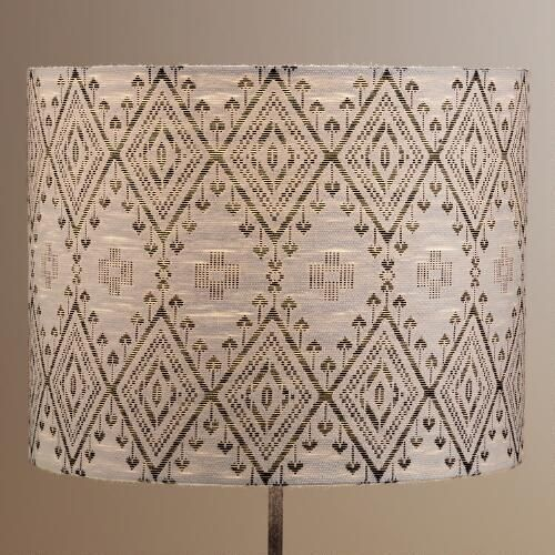 One of my favorite discoveries at WorldMarket.com: Tribal Drum Table Lamp Shade: