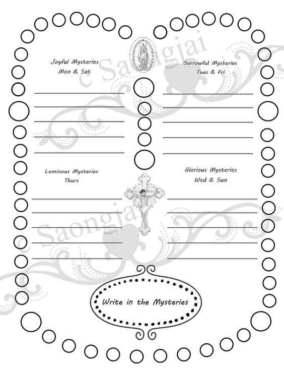 Printables. Parts Of The Rosary Worksheets. Tempojs