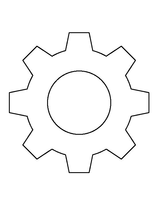 Gears, Stencils and Templates on Pinterest
