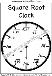 Math, Squares and Clock on Pinterest