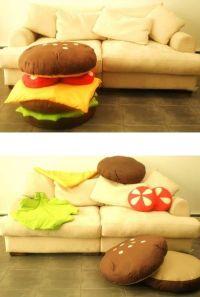 Hamburgers, Burgers and Pillows on Pinterest