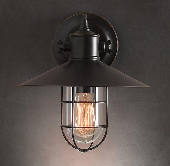 Sconces Restoration hardware lighting and Restoration
