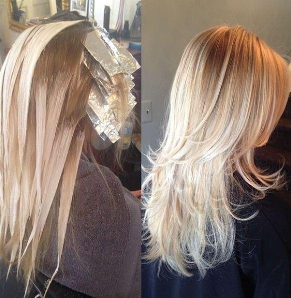 Blonde bayalage: