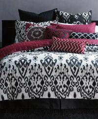 INC International Concepts Bedding, Ikat Queen Duvet Cover ...