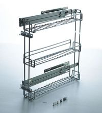3 inch pullout kitchen spice rack cabinet
