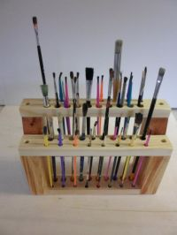 Artist brush, Brush holders and Paint brushes on Pinterest