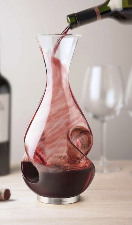 Enhance the flavor and the experience of drinking wine with the L'Grand Conundrum Wine Decanter and Aerator.:
