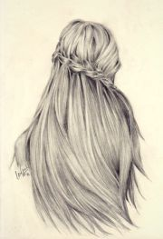 amazingly detailed hair sketch