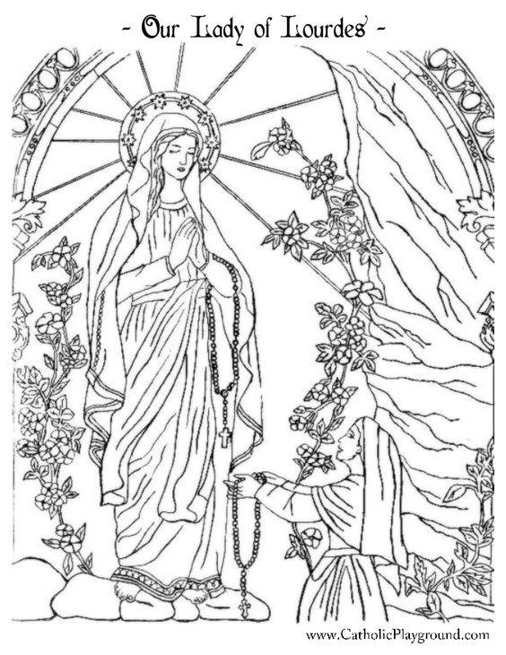 Lady of lourdes, Playgrounds and Catholic on Pinterest
