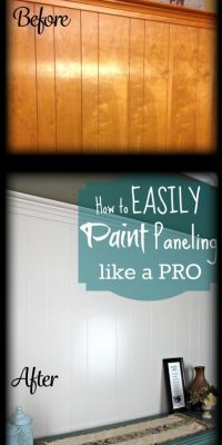 DIY Home Repair Hack: Easily Paint Over Wood Paneling ...