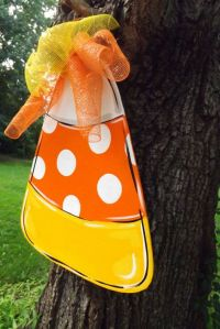 Candy Corn Door Hanger Halloween Door hanger by ...