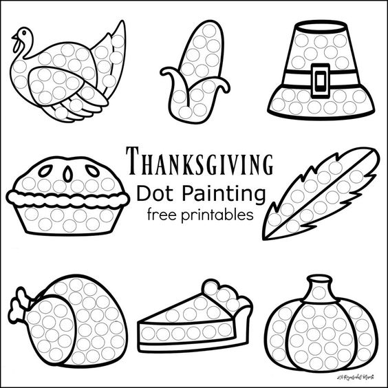Thanksgiving Dot Painting {Free Printables