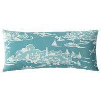 Skylake Toile Outdoor Lumbar Pillow  Turquoise | Serena ...