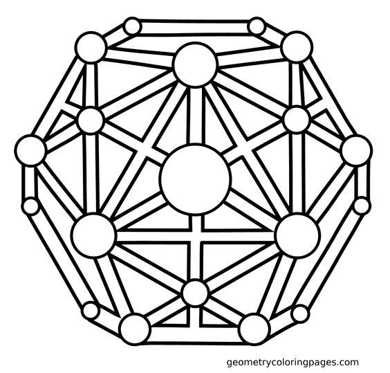 Coloring, Coloring pages and Geometry on Pinterest