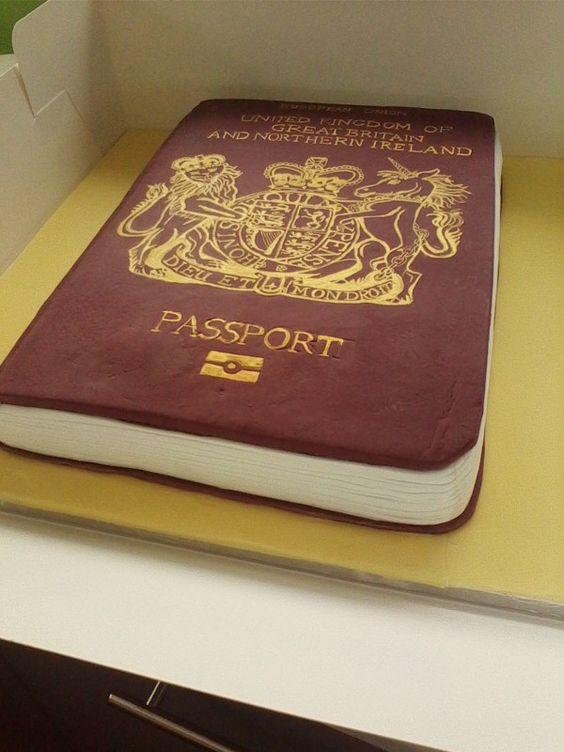 British Passport Cake Hand Painted My Cakes