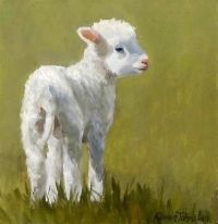 """Daily Paintworks - """"Marys Lamb"""" - Original Fine Art for ..."""