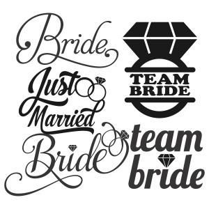 Team bride, Vector clipart and Brides on Pinterest
