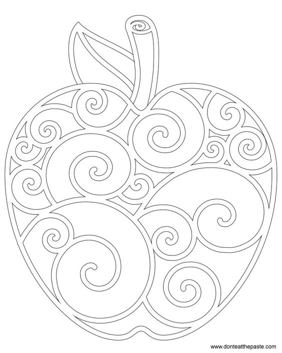 Apple Coloring Page I know it's a colouring age but