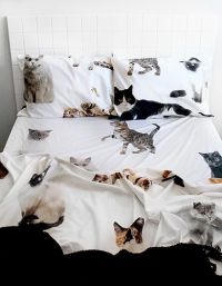 Lifesize cat DOUBLE BED sheet set | Linen Love | Pinterest ...