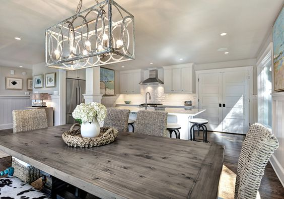 House of Turquoise: Harper Construction Another view, love the table and Chairs!: