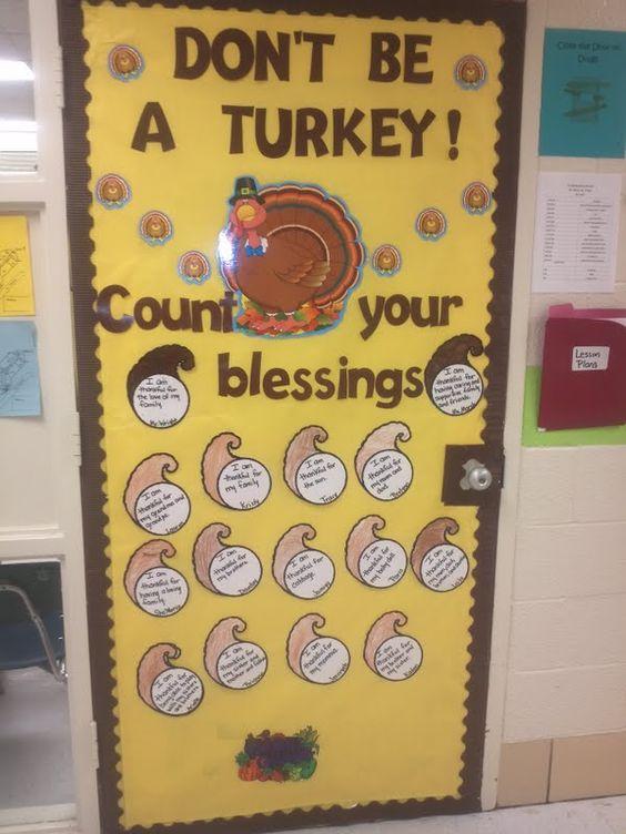 image of thanksgiving door decorations