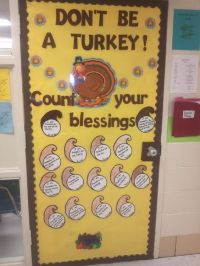 image of thanksgiving door decorations