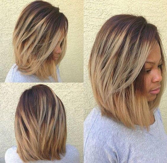 Cute Cut! #relaxedhairstyles Hair Beautiful Hair Coloring Hair