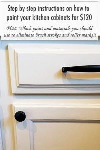 Step by step instructions on how to paint your kitchen