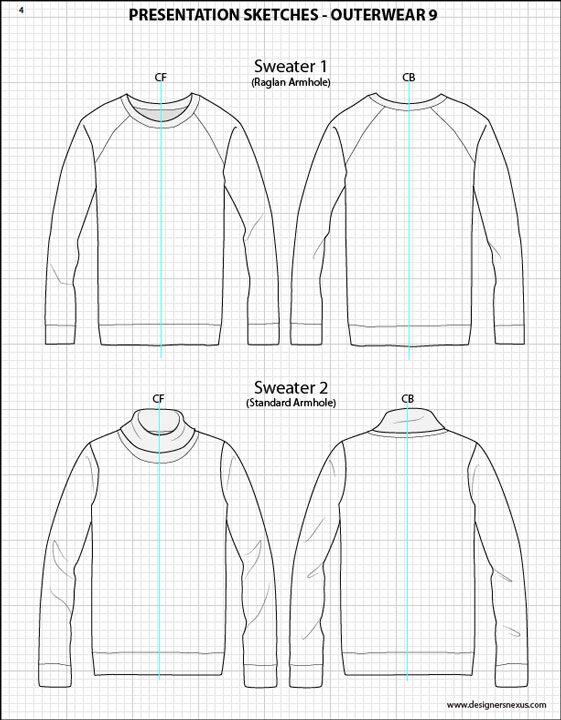 Mens Illustrator Flat Fashion Sketch Templates